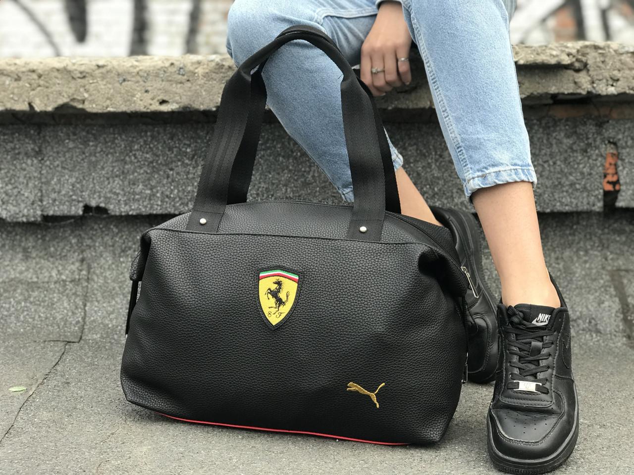 Женский спортивная сумка Puma Ferrari, черная