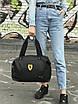 Женский спортивная сумка Puma Ferrari, черная, фото 3