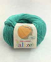 Пряжа Baby Wool 50гр - 175м (610 Зеленый) Alize, Детская пряжа (40%-шерсть, 20%-бамбук, 40%-акрил,Турцию