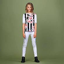 Белые брюки для девочки  тм MONE р-ры 152