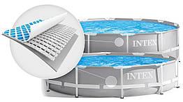 Бассейн каркасный круглый Prism frame pool, Intex 26718 с лестницей и фильтр-насосом в комплекте, 366*122 см