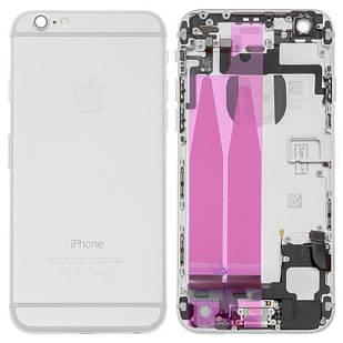 Корпус для iPhone 6, полный комплект, со шлейфом, белый