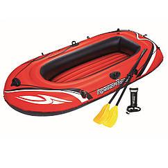 Двухместная надувная лодка Bestway 61102 Красная, 232*115 см