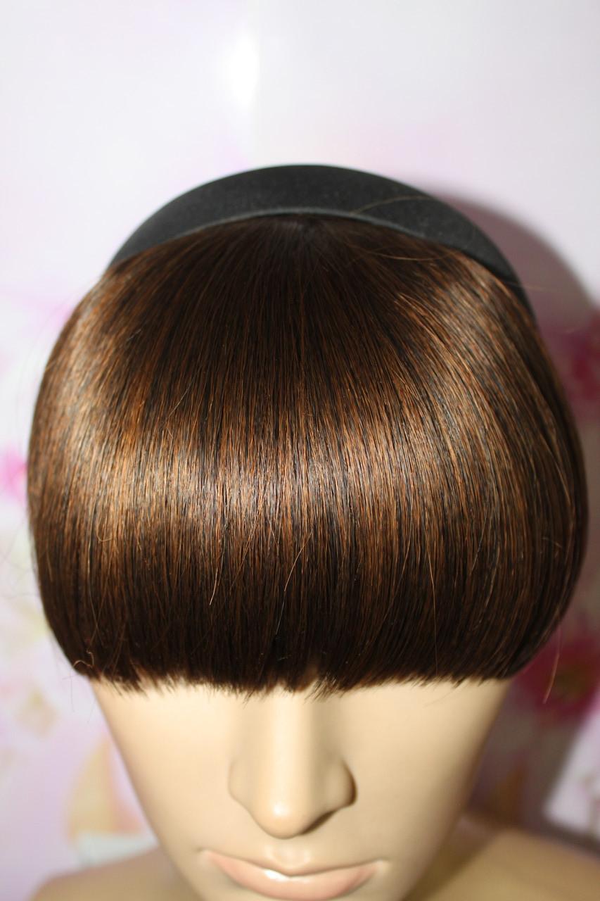 Челка на обруче искусственные волосы термоволокно