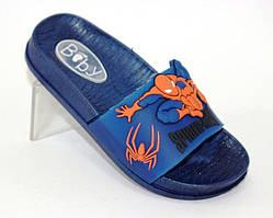 Детские силиконовые шлепанцы в синем цвете  Spiderman