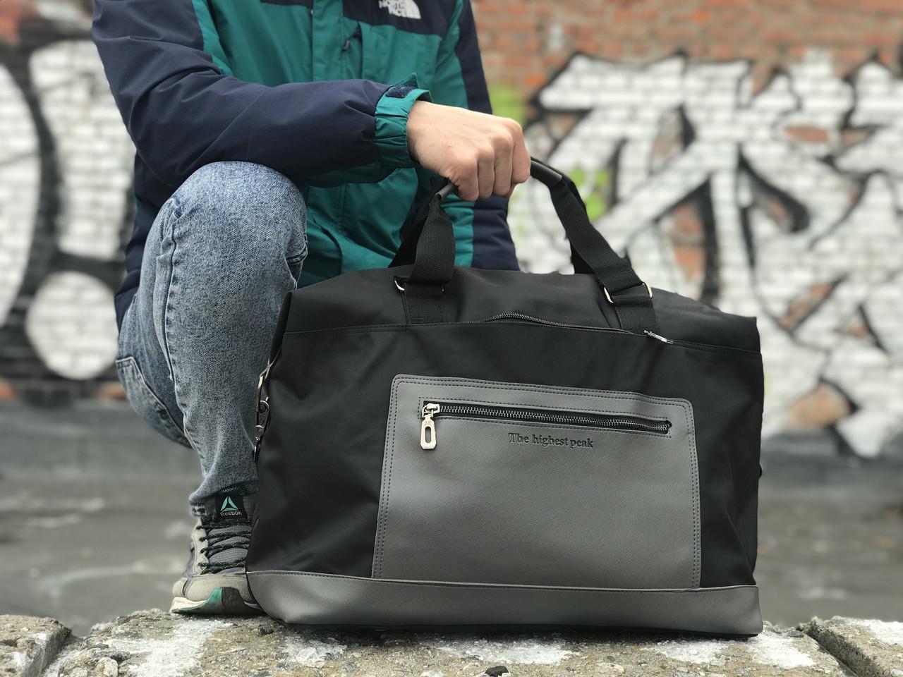 Качественная дорожная сумка, черная сумка