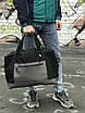Качественная дорожная сумка, черная сумка, фото 3