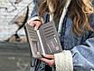 Женская маленькая сумкочка с ремешком, серая, фото 2