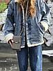 Женская маленькая сумкочка с ремешком, серая, фото 4