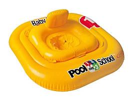 Надувной круг«Pool School», Intex 56587, серия «Школа плавания», с трусиками, 79 х 79 см