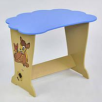 """Детский голубой столик """"Оленёнок БэмбиТучка"""" ТМ МАСЯ, размер 62х42 см"""