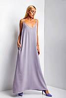 "Платье-майка TM Garne ""Aelita"" в пол с глубоким декольте (3 цвета, р.S-M - 4XL-5XL)"