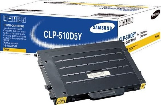 Картридж samsung clp-510d5y  желтый на 5000 страниц  для принтеров samsung clp-510n