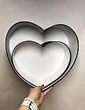 Сердце БОЛЬШОЕ без кр.(чёрный мат), фото 2