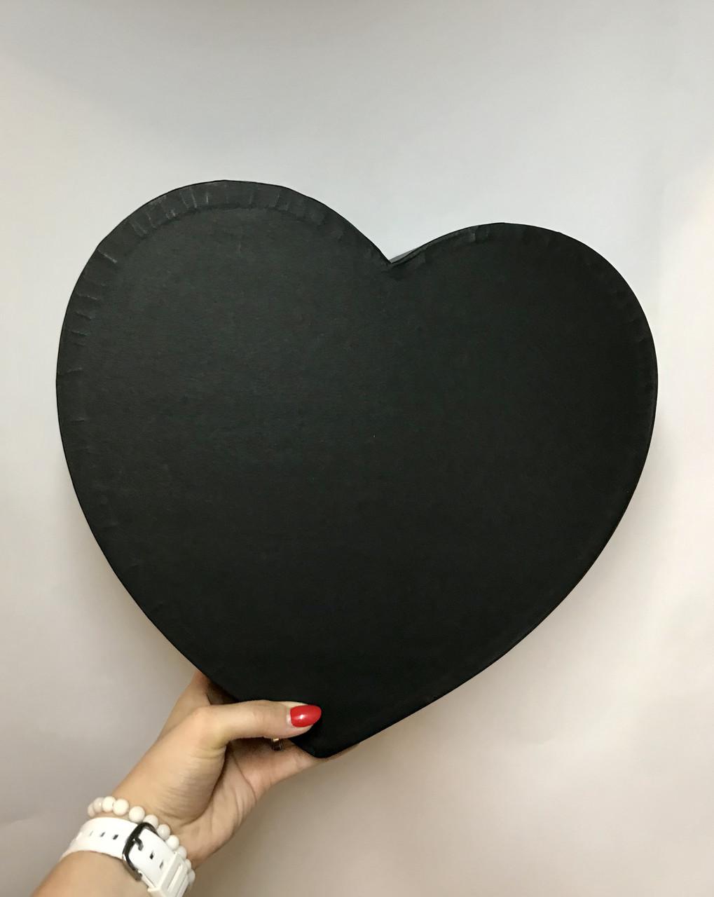 Сердце БОЛЬШОЕ без кр.(чёрный мат)