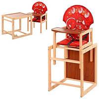 Детский стульчик для кормления трансформер Vivast М V-010-21-3