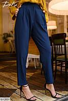 Модные женские деловые брюки с завышенной талией арт 534