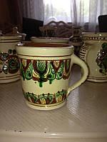 Чашка керамічна ручної роботи (Косівський розпис)