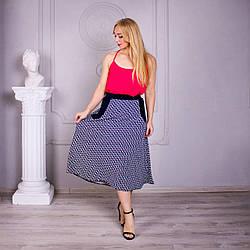 Летняя женская юбка на резинке «Линда» большого размера