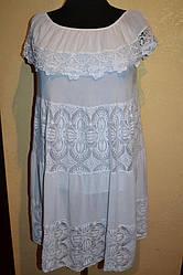 Женское платье  однотонное   больших размеров