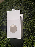 Коробка картонная (100шт/уп) с окошком для полуфабрикат до 900гр пельмени вареники блинчики хинкали 16-13-9см