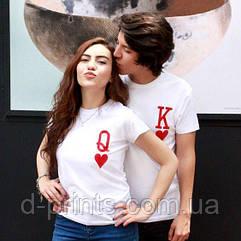 """Парні футболки """"Король і королева"""""""