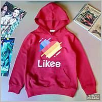 Детский свитшот реглан Likee, Модная детская кофта Возраст 8-14 лет