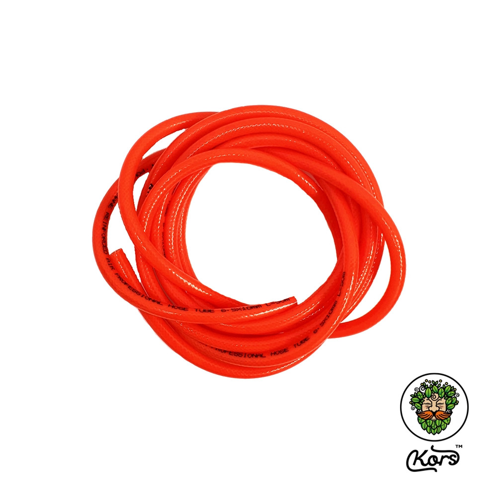 Шланг полиуретановый красный армированный 10х6.5 мм.