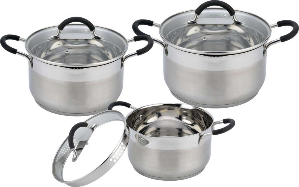 Набор посуды Con-Brio CB 1154 с прорезиненными ручками 6 предметов