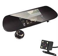 Видеорегистратор зеркало на 2 камеры Full HD V9 с камерой заднего вида