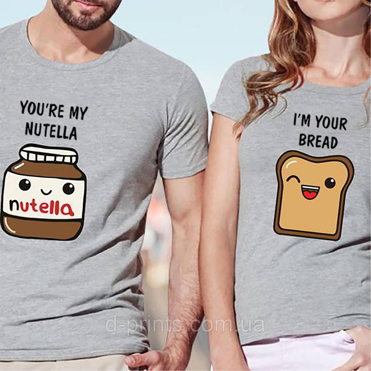 """Парные футболки """"Nutella"""""""