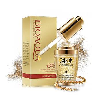 Сыворотка для лица BIOAQUA 24K Gold Skin Care с гиалуроновой кислотой и частицами золота 30 мл Оригинал