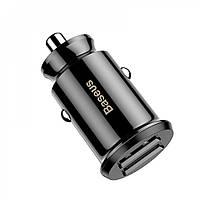 Автомобильное зарядное устройство Baseus Grain 3.1A 2USB Black