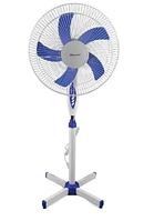 Вентилятор напольный с таймером и пультом пятилопастной 40 Вт 3 скорости Domoteс MS-1621 Белый с Синим