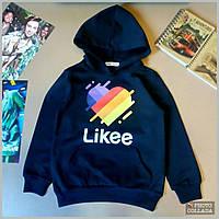 Модный черный свитшот Likee.Осенний реглан для ребенка Детская кофта на осень Возраст 8-14 лет
