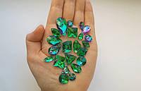 De'Lux Drop Emerald 28*17mm Premium стекло капля эмеральд