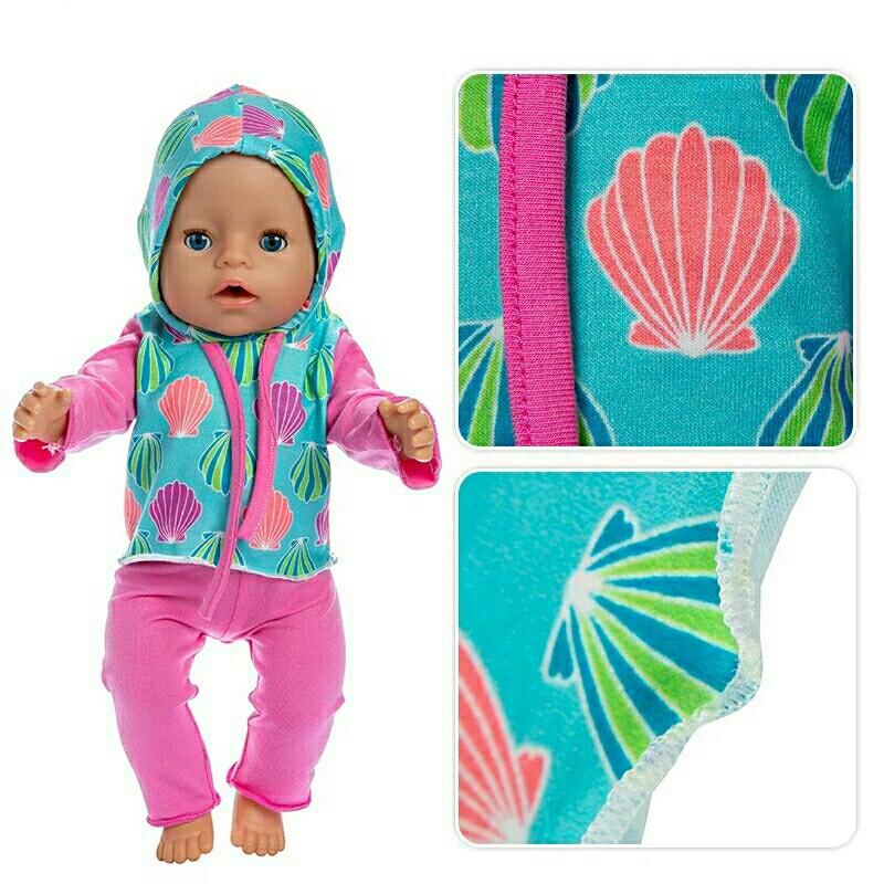 Набір Одяг для ляльки бебі Борн 43 см штани кофта