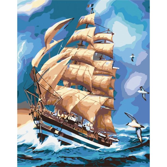 """Картина за номерами. Морський пейзаж """"Під час грози"""" 40*50см KHO2712"""