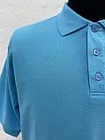Футболка Поло голубой цвет (большой размер)., фото 4
