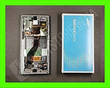 Дисплей Samsung n970 silver / aura glow note 10 (GH82-20818C) сервисный оригинал в сборе с рамкой