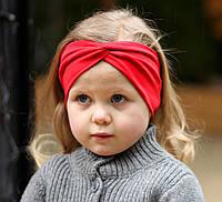 """Повязочка детская на девочку """"Чалма"""" красная котоновая повязка тюрбан размеры от младенцев и больше"""