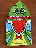 """Дитячий пляжний рушник - пончо """"Динозаврик"""", фото 3"""