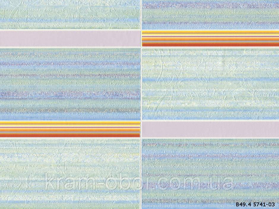 Шпалери Слов'янські Шпалери КФТБ вінілові на паперовій основі супер мийка 10м*0,53 9В49 Ківі 2 5741-03