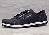40р. Туфлі чоловічі спортивні кросівки синього кольору (Клс-7с), фото 2