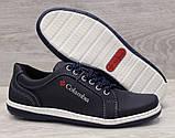 40р. Туфлі чоловічі спортивні кросівки синього кольору (Клс-7с), фото 6
