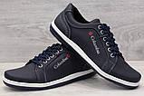 40р. Туфлі чоловічі спортивні кросівки синього кольору (Клс-7с), фото 7