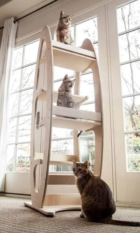 Когтеточка-дерево, башта, дряпалка Tower 4 полички для кішок