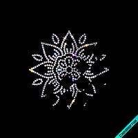 Декор на платья Узор 01 (Стекло, 2мм-кристалл)