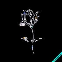 Термоперевод на клатчи Роза из страз (Стекло, ss6-кристалл)