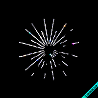 Аппликации, латки на скатерти термо Фейерверк (Стекло, 2мм-кристалл)